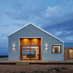 Corrugated steel provides durable facade for rural Australian home by Glow Design Group Metal Building Kits, Metal Building Homes, Building Design, Building A House, Building Ideas, Style At Home, Modern Farmhouse, Farmhouse Style, Farmhouse Ideas