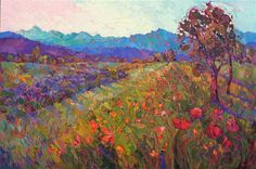 Northwestern landscape modern impressionism oil painting for sale, by Erin Hanson