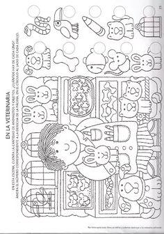 Alicia Melilla - Google+ Fun Learning, Preschool Activities, Teaching Kids, Kindergarten Math Worksheets, Worksheets For Kids, Coloring Book Art, Coloring Pages, Visual Perceptual Activities, Hidden Pictures