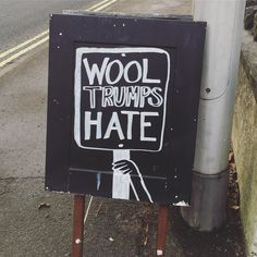 // #ausignwriting #alterknituniverse // From our shop account: @AUshopUK follow us on instagram/twitter for more fun peeks into our shop near Bristol UK. http://ift.tt/1SPuuxi We're the wool shop in Cleeve with the big sheep mural on the A370.