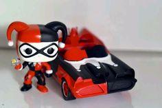 Funko pop rides custom  Harley Quinn  batmobile dc batman