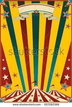 Fabulous circus. a multicolor circus poster for your advertising.