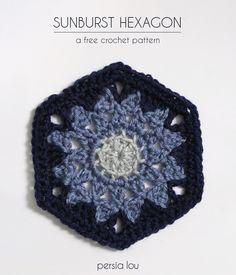 Sunburst Hexagon - free crochet pattern