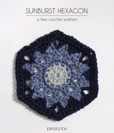 Sunburst Hexagon - free crochet pattern, tons more freebies too, oooh, thanks so xox
