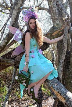 Spring Fairy Wings by Frecklesfairychest on Etsy, $150.00