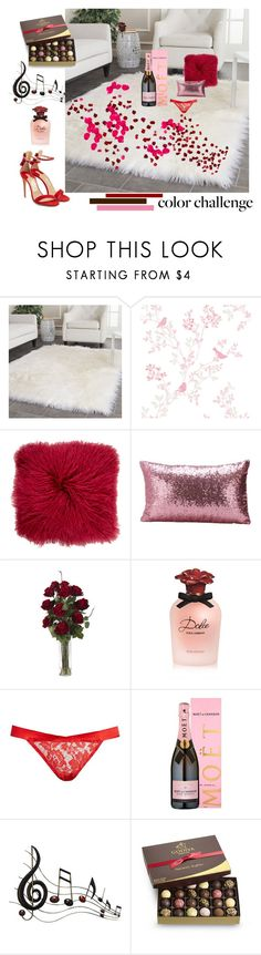"""""""Valentine's Day Love!"""" by dpi-danielle ❤ liked on Polyvore featuring interior, interiors, interior design, home, home decor, interior decorating, Safavieh, Pologeorgis, Nearly Natural and Dolce&Gabbana"""