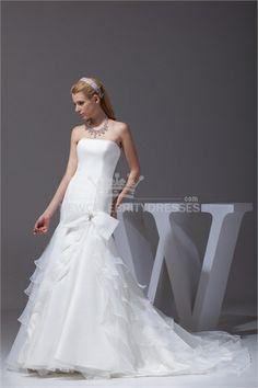 Garden Mermaid Strapless Wedding Dress 004   sunsdress.com  #sunsdress  newcelebritydresses.com   #newcelebritydresses