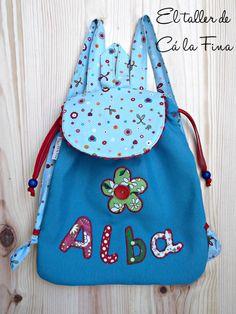 Mochila de guardería personalizada para Alba #mochilasdeguarderia #bebes