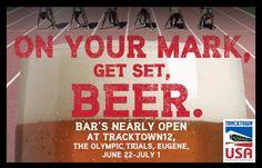 On your mark. Get set. BEER. TrackTown12. The Olympic Trials. Eugene. June 22 - July 1. #DeschutesBeer