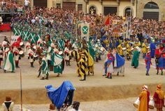 OU in Arezzo -  the annual Giostra del Saracino, a citywide joust that takes place twice each year!