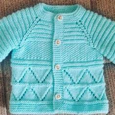 yenidogan-erkekbebek-mavi-hirka – Nazarca.com Newborn Crochet Patterns, Baby Sweater Patterns, Baby Cardigan Knitting Pattern, Knitted Baby Cardigan, Toddler Sweater, Knit Baby Sweaters, Girls Sweaters, Knit Patterns, Baby Vest