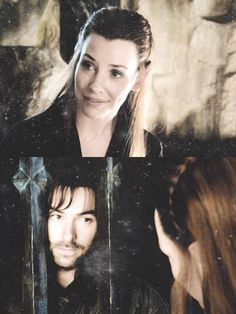 Kili & Tauriel, I just love this scene. Legolas And Tauriel, Thranduil, The Hobbit Characters, O Hobbit, J. R. R. Tolkien, Desolation Of Smaug, I Saw The Light, Aidan Turner, Look Alike