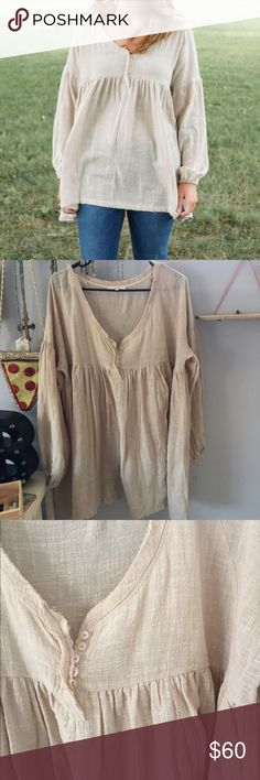Anthropologie blouse beautiful vintage looking peasant blouse. never worn- just doesn't fit right on me. Anthropologie Tops Blouses
