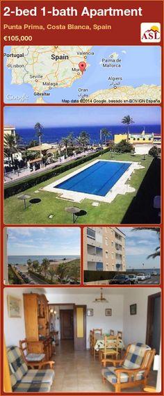 2-bed 1-bath Apartment in Punta Prima, Costa Blanca, Spain ►€105,000 #PropertyForSaleInSpain