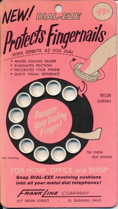 THIS.... is AMAZING!!!!!  Rotary dial phone accessory for the ladies.