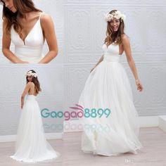 Marie laporte simple boho beach wedding dresses