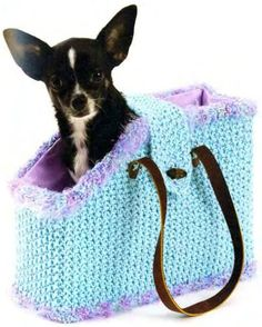 Knitted Pet Tote.