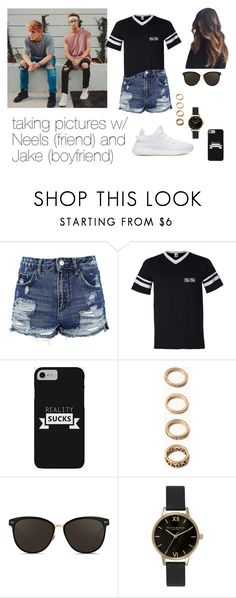"""""""Neels Visser and Jake Paul imagine"""" by cecilie2010-sp ❤ liked on Polyvore featuring Topshop, Forever 21, Linda Farrow and Olivia Burton"""