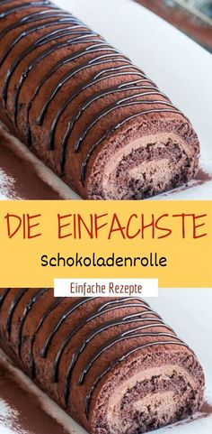 Delicious The easiest chocolate roll - HÄHNCHEN❤️ - - Lecker Die einfachste Schokoladenrolle Ingredients for the dough: 4 eggs 4 tablespoons water 120 g sugar 165 g flour for the cream: 350 ml milk 110 g sugar 1 pck. Easy Cheesecake Recipes, Easy Smoothie Recipes, Easy Cookie Recipes, Naked Cakes, Chocolate Roll, Pumpkin Spice Cupcakes, Fall Desserts, Cookies And Cream, Ice Cream Recipes