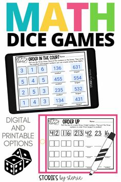 Kids love to play dice games, but some teachers shy away from them due to management issues and lack of time. When you combine dice games your students can play independently AND practice math skills at the same time, it's a win-win situation for the classroom. I want to share my favorite math dice games that your students can play in the classroom or from home.