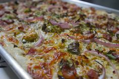 brussels sprouts bacon pizza by shutterbean