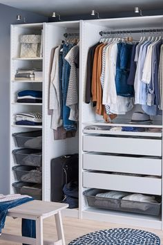 Create your perfect wardrobe with IKEA PAX fitted wardrobes! You can make small adjustments to customize our ready-made PAX fitted wardrobe combinations. Or, you can create your own perfect PAX from scratch.