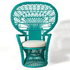 Peacock Chair in Turquoise