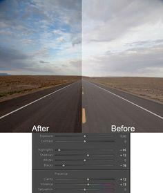 Colorado road photo with Lightroom adjustments