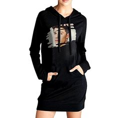 Dudoo Women Shawn Mendes2 Sweatshirt Dress Pockets Pullover Kangaroo Hoodie M Black -- Check this awesome product by going to the link at the image.