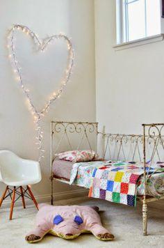 Corazón de luces, una idea genial para una habitación infantil