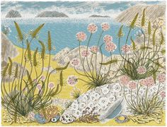 Angie Lewin - Summer Shore - screen print