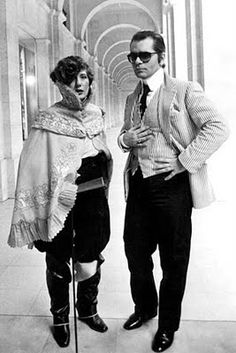 Anna Piaggi and Karl Lagerfeld.