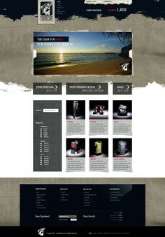 Hooksetters Union web design by Andrew Evans - Great use of multi tones
