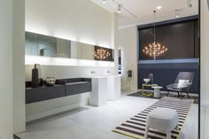 Stores Antonio Lupi opens its new showroom: Surrounded by evergreen plants and olive trees, the new showroom takes us on a magical journey through Antonio Lupi's products.