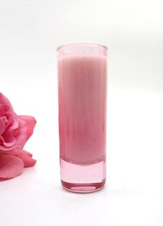 MIXTURE SCENTED SOY VOTIVE CANDLE ~ TUBEROSE & GARDENIA No. 77 ~ 2 oz PINK GLASS #Mixture