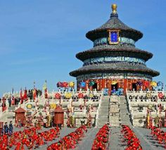 Temple of Heaven is located in the southeast of Beijing and existed for more than 500 years. Temple of Heaven was built for emperors of Ming and Qing dynasties to worship the heaven. Temple of Heave is the largest and best-preserved architectural complex for sacrifice in China. http://www.chinatour.com/beijng/beijing-attractions.htm