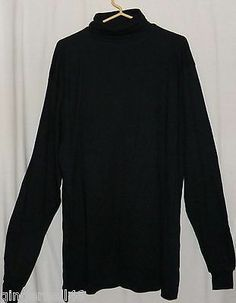 Harvard Square Black Size 2XL Shirt Pullover Turtle Neck New Egyptian Cotton