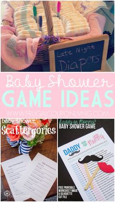 The best DIY projects & DIY ideas and tutorials: sewing, paper craft, DIY. Best Diy Crafts Ideas For Your Home Baby Shower Game Ideas plus shower food ideas and more on Frugal Coupon LIving. Deco Baby Shower, Baby Shower Food For Girl, Baby Shower Favors, Baby Shower Cakes, Baby Shower Parties, Baby Shower Themes, Baby Boy Shower, Baby Shower Gifts, Baby Gifts