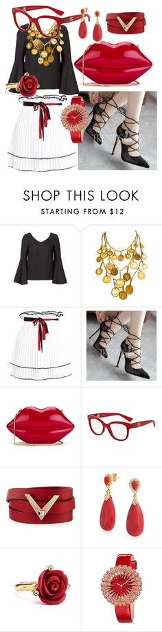 """City Walker Gipsy Coin Necklace"" by bvn01 ❤ liked on Polyvore featuring Yves Saint Laurent, Akep, Lulu Guinness, Dolce&Gabbana, Valentino, Bling Jewelry, Oscar de la Renta and bürgi"