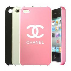 Fancy Chanel Style Case - Black voor iPhone 4 en 4S #covermaniabe #iphonehoesje #iphonecover www.cover-mania.be