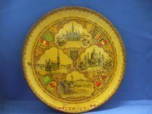 Vienna Austria Carved Wooden Plate Souvenir
