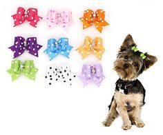 Cute Pet Dog Hair Bows With Rubber Bands Cat Puppy Grooming Bows for Hair Accessories Seven Random Different Colors Pack of 7pcs - http://www.thepuppy.org/cute-pet-dog-hair-bows-with-rubber-bands-cat-puppy-grooming-bows-for-hair-accessories-seven-random-different-colors-pack-of-7pcs/