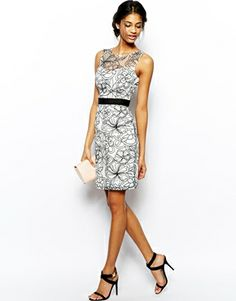 Image 4 of Lipsy VIP Embroidered Pencil Dress