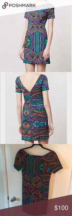 "Anthropologie Plenty by Tracy Reese Shift Dress Baga Shift Dress / Back zip / viscose, rayon, spandex body / polyester, spandex lining / dry clean / 36"" / worn once Anthropologie Dresses Mini"