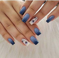 40 trending early spring nails art designs and colors 2019 045 producttall com Pink Ombre Nails, Blue Nails, Elegant Nails, Stylish Nails, Spring Nail Art, Spring Nails, Toe Nail Designs, Acrylic Nail Designs, Nail Art Hacks