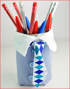 Fathers Day Pencil Cup Handmade Gift