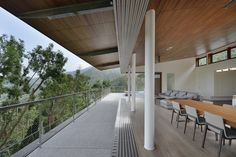 Completed in 2016 in Taiwan. Images by Cheng Chin-Ming. . Located on a hillside in Yunlin and surrounded by mountains and beautiful scenery, Stilted house has a broad view of Taiwan's western coastline for...