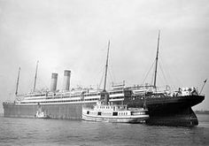 "RMS Adriatic. The fourth and final ship in the ""Big Four"", built for the White Star Line. Adriatic was the first ocean liner to have an indoor swimming pool and a Turkish bath at the disposal of passengers. She also inaugurated the Southampton-New York route and the first ship to use the new White Star dock in Southampton. She would continue on the Southampton-New York route until Olympic took over the service, at which point Adriatic returned to sailing from Liverpool."