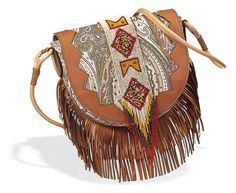 Trend: The Wild West. Look: Etro Navajo Paisley shoulder bag.