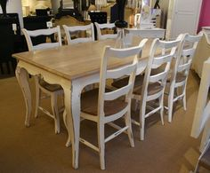 French Oak Dining Table Set (1 Table 6 Chairs)....Stone Grey & Natural Oak French Style by Shabby Chic Home, http://www.amazon.com/dp/B00A5YH7SE/ref=cm_sw_r_pi_dp_24H7qb1MCWXWM